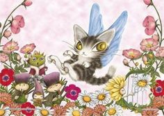 108 Piece Jigsaw Puzzle Prism Art Wafflewood Fairy Dayan X Cm for sale online Nyan Nyan, Jigsaw Puzzles, Illustration Art, Fairy, Cartoon, Cats, Ebay, Animals, Gatos