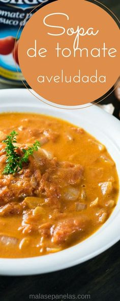 Fall in love with this Velvety Tomato Soup! Good Food, Yummy Food, Delicious Recipes, Yummy Treats, Tomato Soup, Fabulous Foods, Carne, Stew, Food And Drink