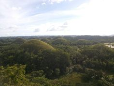 One of the Seven Wonders of the World  Chocolate Hills in Bohol Philippines