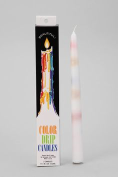 Color-Drip Candle - Set Of 2 $4 from Urban Outfitters. I have to get some of these to put in old wine bottles for easy chic looking art!:)