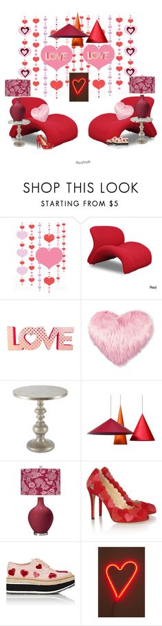 """""""Love and The Sweet Lip Lounge Chair..."""" by kimberlyd-2 ❤ liked on Polyvore featuring interior, interiors, interior design, home, home decor, interior decorating, Christopher Knight Home, Hooker Furniture, Charlotte Olympia and Prada"""