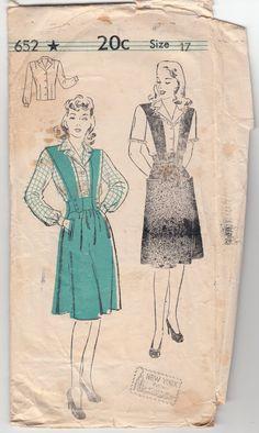 Vintage+Sewing+Pattern+1940's+Ladies'+Jumper+and+by+Mrsdepew