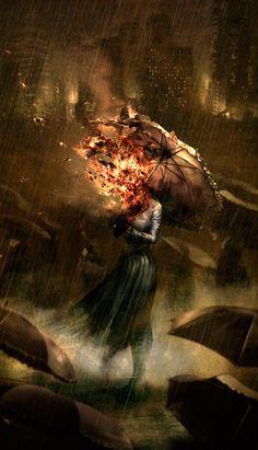 And I set fire to the rain...
