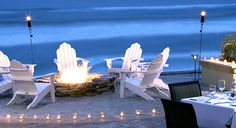Firelight gatherings by the oceanside firepits....sounds like my kinda evening!