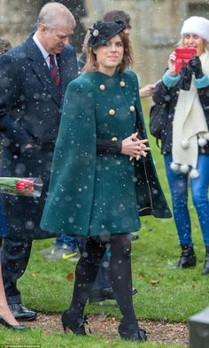 Eugenie was last seen in public attending church at Sandringham yesterday, but there was n...