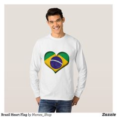 Brazil Heart Flag T-Shirt - Heavyweight Pre-Shrunk Shirts By Talented Fashion & Graphic Designers - #sweatshirts #shirts #mensfashion #apparel #shopping #bargain #sale #outfit #stylish #cool #graphicdesign #trendy #fashion #design #fashiondesign #designer #fashiondesigner #style