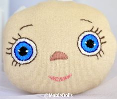 Let's create a Mable doll image! I propose to create an image of a Mable doll from the spring collection. I have already embroidered her face: eyes of cornflower-blue color or bottomless spring sky (what you wish! Dolls For Sale, Spring Collection, Birthday Gifts, Sky, Eyes, Create, Face, Fabric, Stuff To Buy