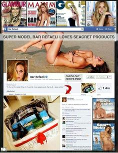 This is Awesome! #barrefaeli uses our #seacret products! Will you be the next? www.seacretdirect.com/triciastone