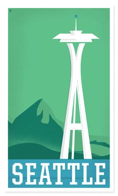 Seattle Poster by The Heads of State, Graphic Design & Illustration #seattle