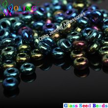 2MM 2600pcs Glass Seed Beads Multicolored Colors Lustered Round bead Spacer DIY necklace Bracelet earrings choker jewelry making(China (Mainland))