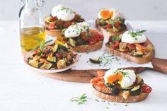 Ratatouille na toustech Ratatouille, Polenta, Bruschetta, Baked Potato, Potatoes, Baking, Ethnic Recipes, Food, Potato