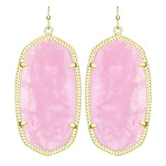 Brilliantly simple and simply brilliant is the best way to describe Kendra Scott's classic Danielle drop earrings. With a large vintage oval shape in an elegant frame, their instantly recognizable sty