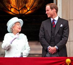 H.M. Queen Elizabeth II of Great Britain and H.R.H. Prince William of Wales, later Duke of Cambridge