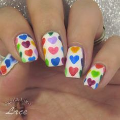 NailsLikeLace: A Weekly Dose of Rainbows: Watercolor Heart Print