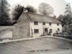 Farmhouse, Higher Brixham, thanks to Bill. Farmhouse, Yard, Cabin, House Styles, Home, Patio, Cabins, Ad Home, Cottage