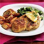 Chicken Scaloppine over Broccoli Rabe 15 min