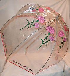 clear dome bubble umbrella 60's
