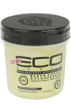 Eco Style Black Castor & Flaxeed Oil Styling Gel www.rizadoafroymas.es