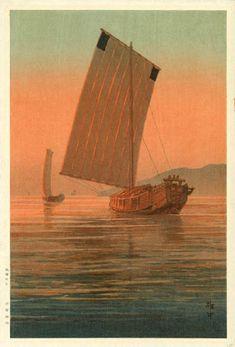 Tsukuda Jima  by Ito Yuhan  (published by Nishinomiya Yosaku)