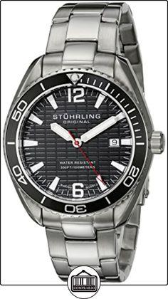 Stuhrling Original Regatta 515 - Reloj de cuarzo, para hombre, con corea de acero inoxidable, color plateado de  ✿ Relojes para hombre - (Gama media/alta) ✿