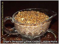 Ukrainian - Slow Cooker Kutya or Kutia (Christmas Porridge) Ukrainian Recipes, Russian Recipes, Ukrainian Food, Russian Foods, Slow Cooker Recipes, Crockpot Recipes, Cooking Recipes, Copycat Recipes, Healthy Recipes