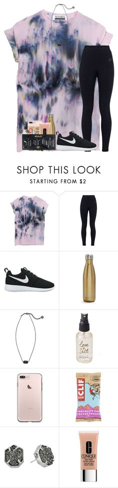 nike shoes weekends by kyliegrace ❤ liked on Polyvore featuring NIKE, Swell, Kendra Scott, Olivine, Clinique and Kat Von D