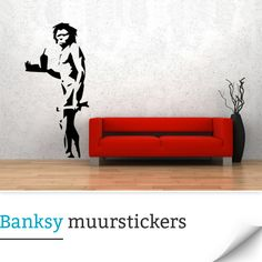 Goedkope Banksy Muurstickers Banksy Wall Art, Banksy Graffiti, Modern Wall Decals, Vinyl Art, Wall Stickers, Nerdy, Decoration, Home Decor, Wall Clings