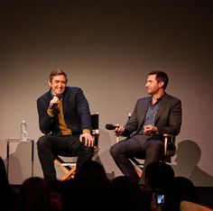#LeePace and #RichardArmitage at the Apple Store Q&A for The Hobbit: The Battle of the Five Armies, December 11, 2014.