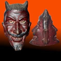Vintage Halloween Collectible ~ Cast Iron Devil Bank by the A.C. Williams Company