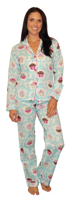 PJ Salvage Playful Prints Cupcake Pajama Set #SleepyHeads www.sleepyheads.com
