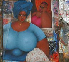 African Art 7 Ivorian Painter Celebrates Big, Beautiful African Women