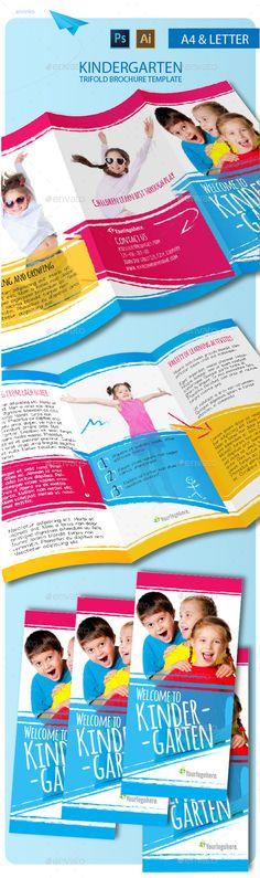 E-Commerce Business Tri-Fold Brochure Business Brochure - kindergarten brochure template