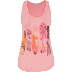 maurices Beach Scene Graphic Tank With Ethnic Print Shimmer ($11) ❤ liked on Polyvore