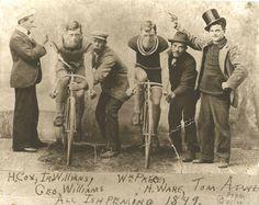 Vintage Bicycle Racing.