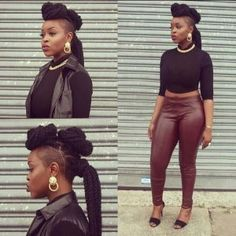 Marley twist hairstyles are a happening trend. There are so many creative styles to choose from. Check out these cool, hip Marley twist styles and hairdos. Marley Twist Hairstyles, Side Hairstyles, African Hairstyles, Braided Hairstyles, Hairstyles 2016, Tapered Hairstyles, Braided Mohawk, Mohawk Hairstyles, Black Hairstyles