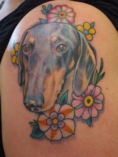 Dachshund Dog Tattoo