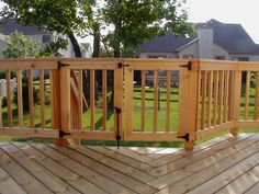 Deck Rail With Safety Gate by Archadeck
