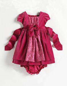 Baby Girls 12-24 Months Velvet Lace Dress