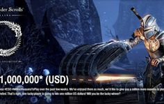 $1 Million Dollar Prize for Playing Elder Scroll Online