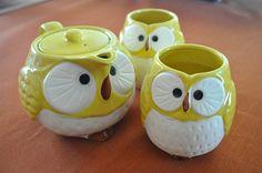 Owl teapots