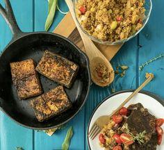 Tofu and quinoa