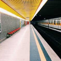 Exploring the world with photos: Milan Underground Yellow Line @ vsco cam