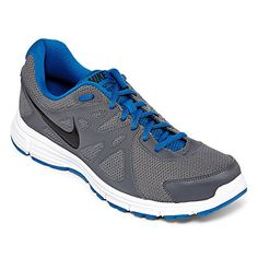 Nike Mens Revolution 2 Running Shoe (10, Dark Grey/Military Blue/White/Black)