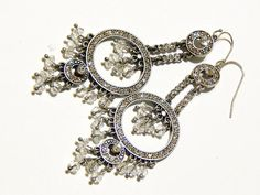 Vintage Rhinestone Earrings  Regency Style by MURPHYSTREASURES2