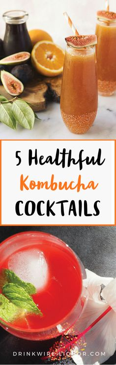 These #healthy #kombucha #cocktails are perfect to enjoy any time of year