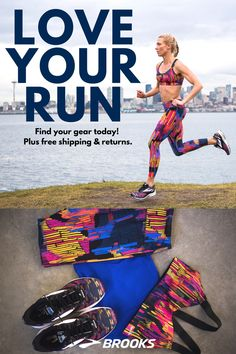 The UpRise Crossback Sports Bra | Women's Greenlight Running Capris | The Launch 4 Running Shoe | Last-Minute Valentine's Gifts for Her | Women's Running Gear from Brooks Running