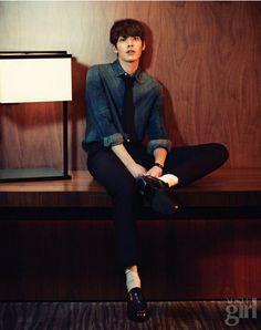 Kim Woo Bin (김우빈) for Vogue Girl - January 2014