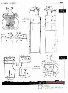 patternmaking - Modeling elements of women's clothing. Coat Patterns, Vintage Sewing Patterns, Clothing Patterns, Women's Clothing, Pattern Cutting, Pattern Making, Sewing Clothes, Diy Clothes, Patron Vintage