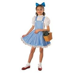 Girl's The Wizard of Oz Dorothy Deluxe Costume - Large