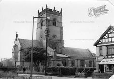 St Cross Church and Webb & Wright's shop, Mobberley Road